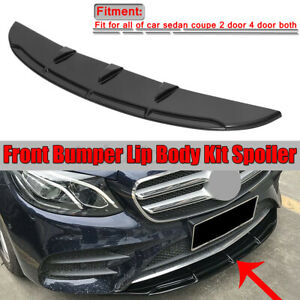 47 Front Bumper Lip Splitter Plate Under Spoiler Diffuser For Mercedes C Class
