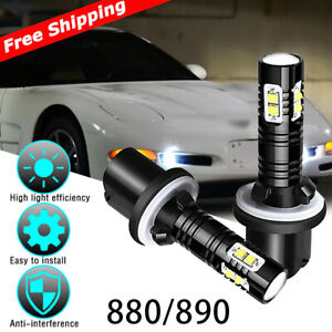 6000k 880 899 Car Led Fog Driving Lights Bulbs 2 For Chevy Corvette C5 1997 2004