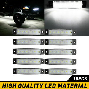 White Led Rock Light 10 Pods Lights For Off Road Truck Car Atv Suv Under Wheel