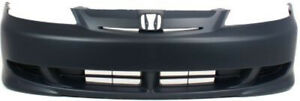 Primed Front Bumper Cover Replacement For 2003 Honda Civic