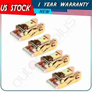 4 Ratchet Handles For Tow Dolly Car Hauler Flat Bed 2 Ratchet Strap Tie Down