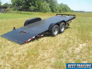 2020 Hawke 20 Ft 15k New 7 X 20 Power Tilt Equipment Carhauler Bobcat Trailer Hd