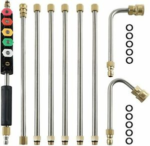 Upgraded Pressure Washer Extension Wand Set 9 5ft Replacement Lance 6 Nozzle Tip