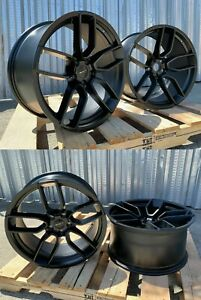 20 Inch Matte Black Wheels 20x9 5 20x10 5 Fit Dodge Charger Challenger Set 4