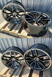 20 Inch Hyper Black Wheels 20x9 5 20x10 5 Fit Dodge Charger Challenger Set 4