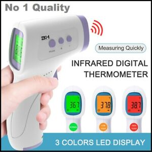 Non Contact Temperature Laser Digital Lcd Infared Thermometer Adults Kids Heat