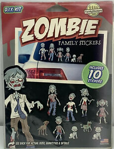D I Y Zombie Family Stickers Kit Incomplete Kit Includes 8 Stickers Decals