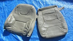 01 04 Volvo Xc70 Cross Country Oem Grey Oak Driver Left Side Leather Seat Covers