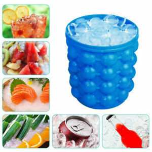 Ice Cube Maker Mold Silicone Ice Bucket Space Ice Cube Saving Tray Tool