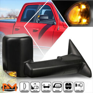 For 09 16 Dodge Ram 1500 5500 Powered Heated Towing Mirror Smoked Led Lamp Right