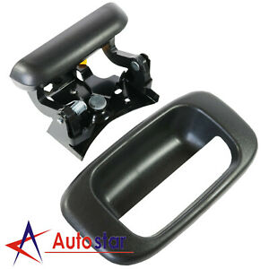 Tailgate Handle And Bezel Trim Kit Set Fit For 99 07 Chevy Silverado Gmc Sierra