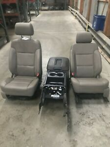 14 16 Silverado Sierra 1500 Crew Cab Leather Bucket And Console Seat Opt An3