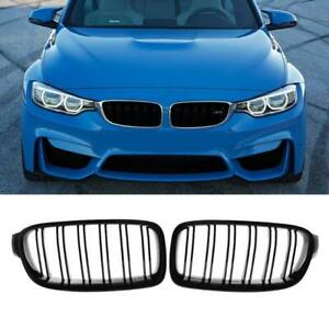 For Bmw F10 F11 528i 535i 10 16 Gloss Black Dual Slat Front Kidney Grille Grill