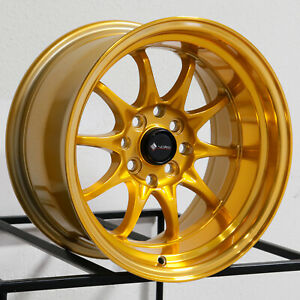 Vors Tr3 15x8 4x100 4x114 3 0 Candy Gold Wheels 4 73 1 15 Inch Rims