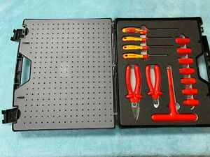 Lightly Pre owned Knipex 98 99 12 Insulated Standard Tool Set 26 Piece