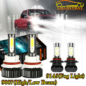 Combo 9007 9145 Led Headlight Foglight Bulbs For Ford Ranger 2001 2011 2005 2010