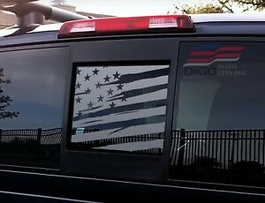 2013 2020 Nissan Frontier Back Window Distressed American Flag Decal Sticker