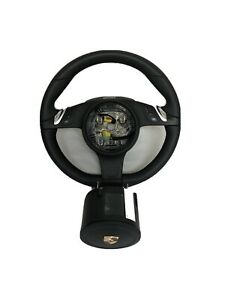 Porsche 997 991 1 Pdk Black Leather Multi Function Steering Wheel With Airbag