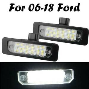 2pc Led Number License Plate Tag Light For Ford Flex Taurus Focus Fusion Mustang