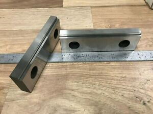 Pair Of Usa Made 6 Steel Vise Jaws W 3 16 Step Kurt Other