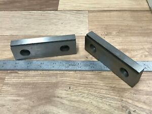 Pair Of Usa Made 5 Steel Vise Jaws W 5 32 Step Kurt Other