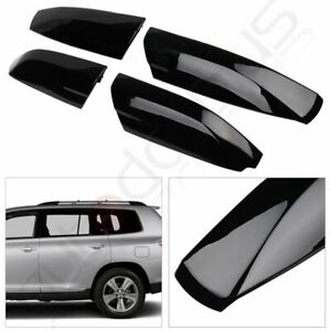 Us 4x Roof Rack Cover Rail End Shell Cap Replacement For Toyota Highlander 08 13