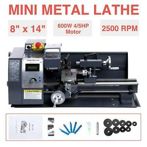 8 X14 Mini Metal Lathe Metalworking Woodworking Metal Gears Bench Metalworking