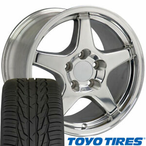 Oew Fits 17x9 5 17x11 Polished C4 Corvette Zr1 Wheels Tires Rims Camaro