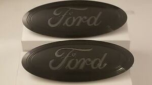 2015 17 F150 Grill And Tailgate Emblem Custom Gloss Magnetic Black Pair