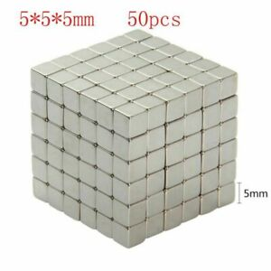 50pcs N35 Square Magnetic Buck Cube Powerful Magnet For Craft Diy Home Decor