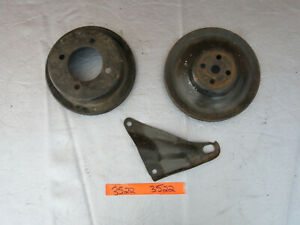 1969 1970 Ford Mustang Engine Pulley Water Pump Crank Brackets 302 351c 3522