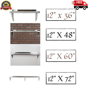 Commercial Stainless Steel Wall Shelf 16 18 Gauge Heavy Duty Table Overshelf Nsf