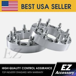 Wheel Adapters 8 Lug 8x6 5 Chevy Gmc Spacers 2 Brand New