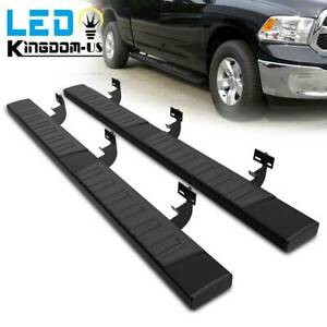For 09 18 Dodge Ram 1500 Crew Cab 6 Running Boards Nerf Bars Side Steps Black