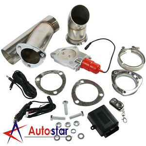 2 5 63mm Electric Exhaust Catback Downpipe Cutout E Cut Out Valve Remote System