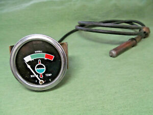 Vintage Sw Stewart Warner Mechanical Water Temp Gauge W Sender Old School Usa