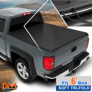 Vinyl Soft Top Tri fold Tonneau Cover For 93 04 Ford Ranger Flareside 6ft Bed