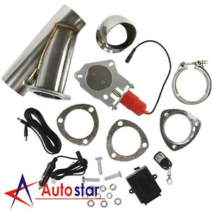 3 Electric Exhaust Muffler Valve Cutout System Dump Wireless Remote Kit