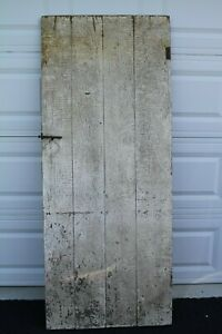 Antique Vintage Wood Wooden Barn Farm Rustic Primitive Batten Distressed Door