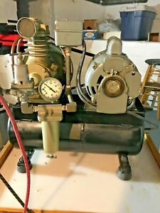 Dayton Model 5k44 A Speedaire Elec 400 Air Compressor working moving must Sell