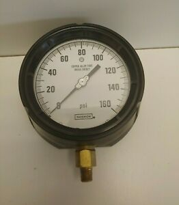 New Old Stock Noshok 4 0 160 Psi 1 4 Bottom Panel Mount Pressure Gauge