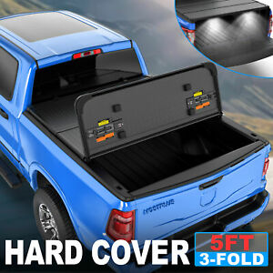 3 fold 5 Bed Truck Tonneau Cover For 19 up Ford Ranger Us Patent 14mm Thickness