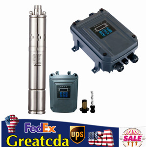 3 Dc Solar Water Pump Bore Hole Submersible Mppt Controller Deep Well 1000w New