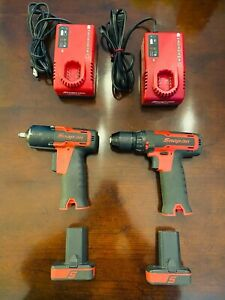 Snap On 3 8 Impact Drill 14 4v With Batteries Chargers