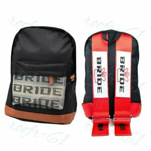 New Red Racing Harness Strap Jdm Bride Gradation Racing Seat Cloth Backpack