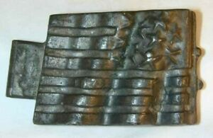 Antique Pewter Ice Cream Mold American Flag Ny 1075