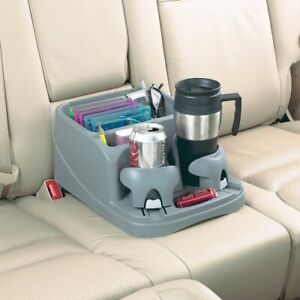 Car Center Universal Floor Console Storage Organizer Box Holder Cup Gray Rv Auto