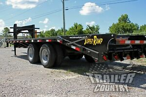 New 8 X 25 20 5 Dual Tandem 10 Ton Deckover Equipment Gooseneck Trailer