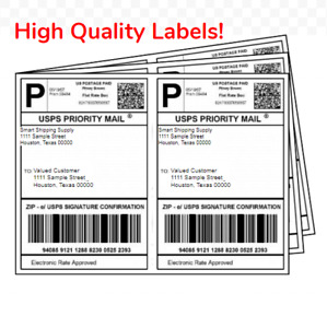 Premium 8 5 X 5 5 Half Sheet Self Adhesive Shipping Labels Shipping Paper