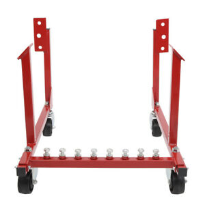 For Chevrolet Chevy V8 1000lb Auto Engine Cradle Hoist With Dolly Wheels Rebuild
